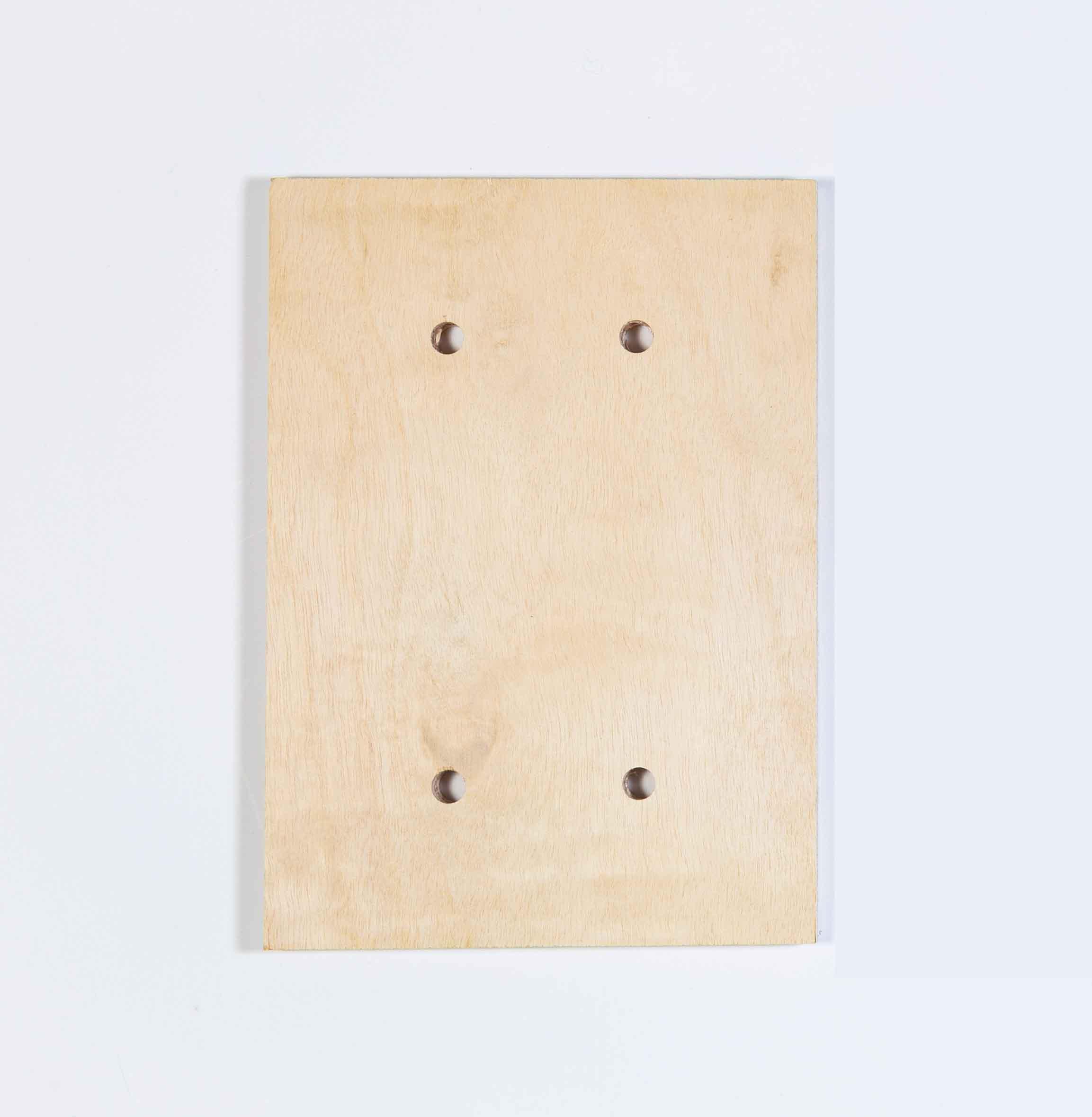Lagun Holzplatte - Rückwandverstärkung