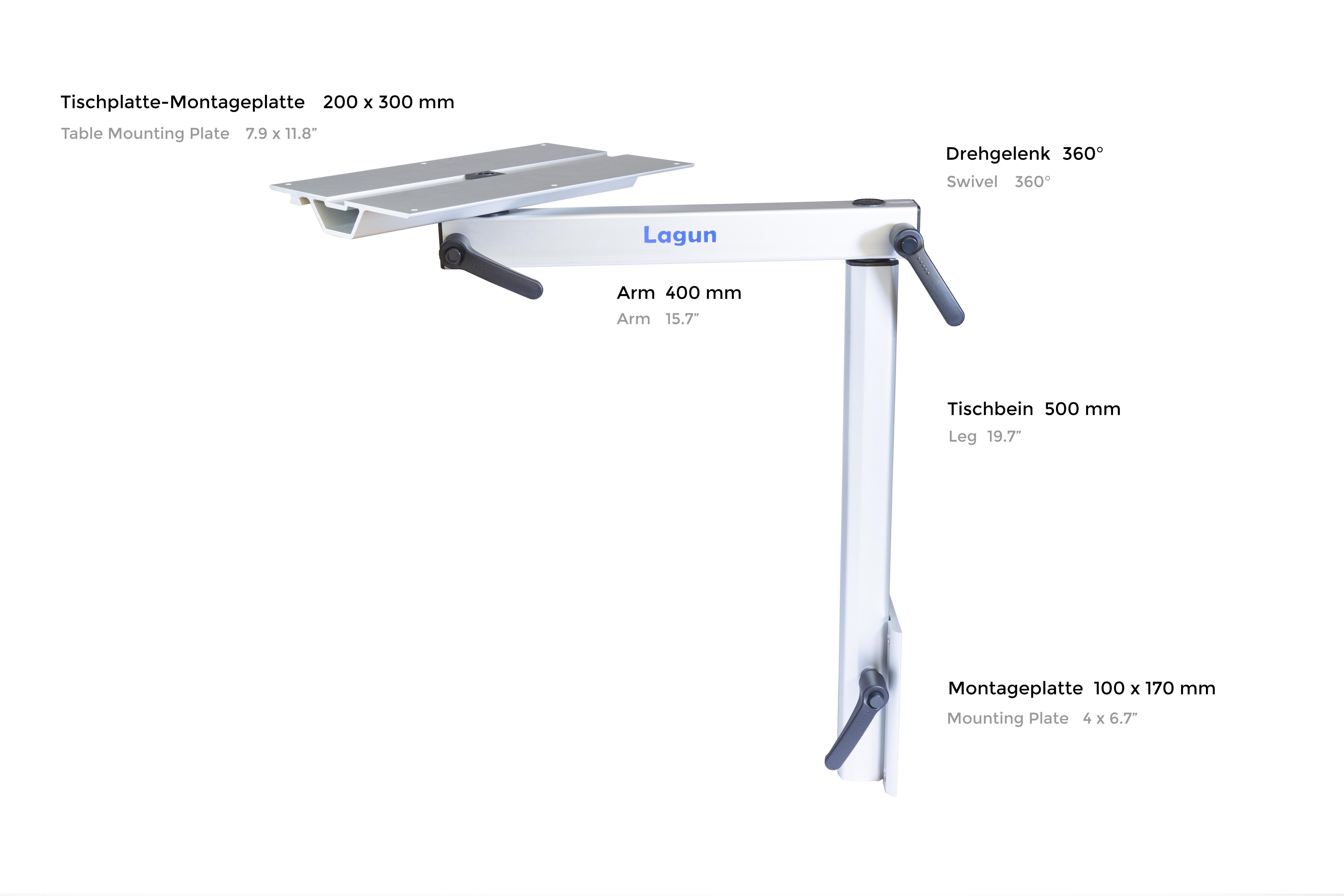 Lagun Tischgestell ohne Tischplatte